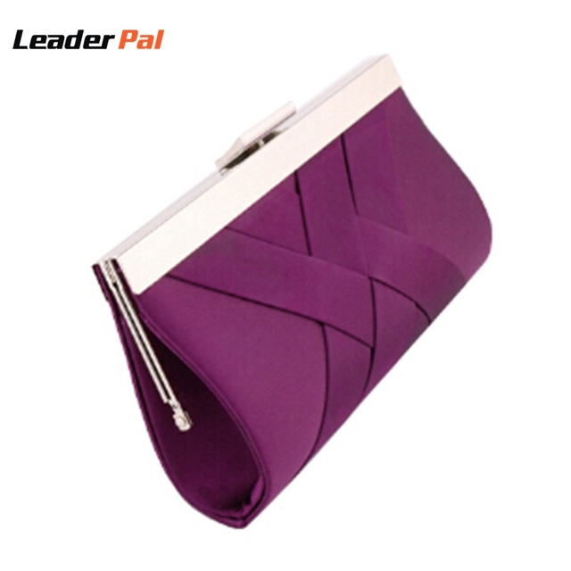 b1874179984 New Fashion Noble Ladies Clutch Purse Chain Handbags Women's Evening Clutch  Bags Purple Bride Wedding Party