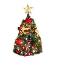 50センチ人工クリスマスツリーled多色ライトホリデーウィンドウ装飾セット多くの装飾品arbolesバーラデナビ