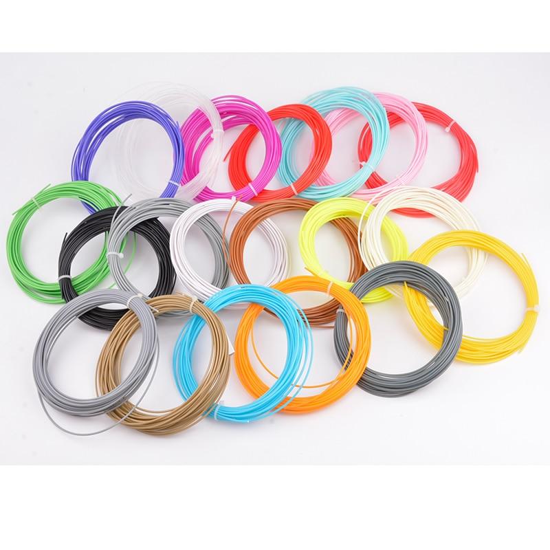 10 color 5M ABS Filament 1.75mm 3D Printer Pen Plastic Rubber Printing Material