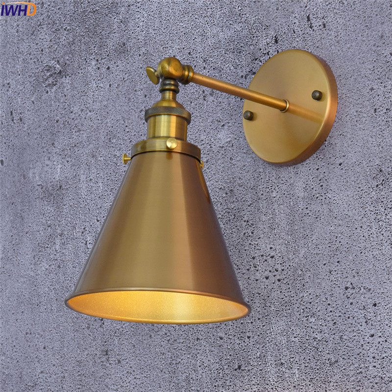 IWHD Iron Adjustable Edison LED Wall Lamp Black Nordic Simple Wandlamp Retro Fixtures Home Lighting Applique Murale LuminaireIWHD Iron Adjustable Edison LED Wall Lamp Black Nordic Simple Wandlamp Retro Fixtures Home Lighting Applique Murale Luminaire