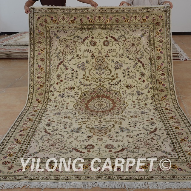 Yilong 6 X9 Oriental Hand Knitted Wool Carpet Exquisite Persian