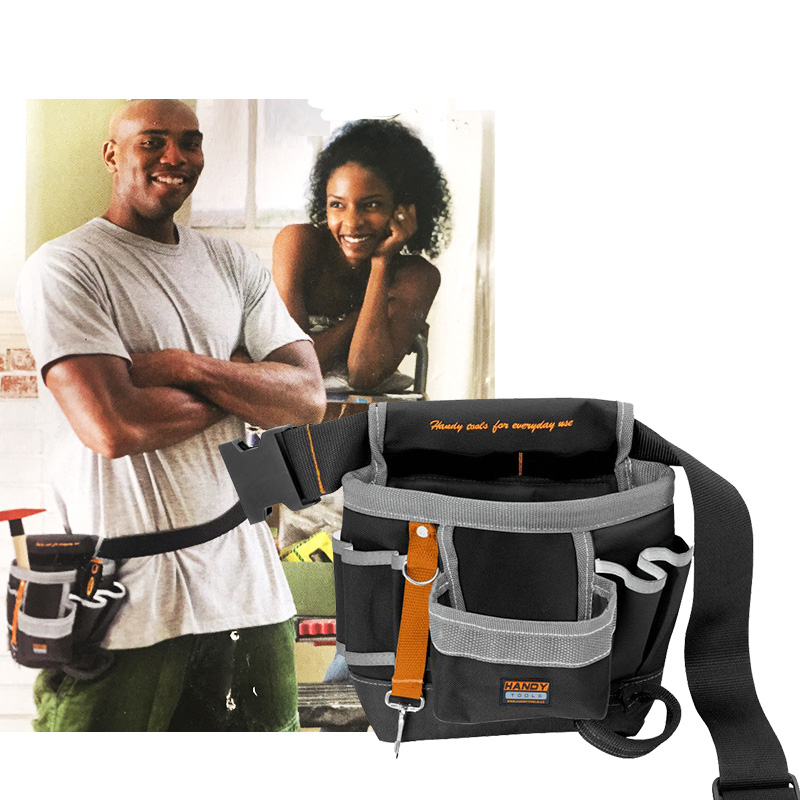 600D Oxford Tool Bag Waist Belt Bag Pouch Waist Pocket Outdoor Work Hand Tools Hardware Multi-function Electrician Tools Bag