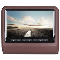 9 HD Digital LCD Screen DVD Car Headrest Monitor Brown