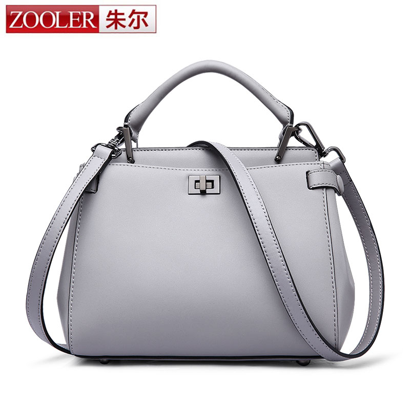 ZOOLER Luxury Women Lock Bags Handbags Solid Women Famous Brand Genuine Leather Shoulder Bags Ladies Small Bag Bolsos Mujer Sac women real genuine leather messenger bag 2017 fashion shell crossbody shoulder bags bolsos mujer small handbags famous brand