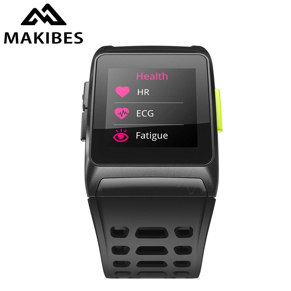 1 an de garantie Makibes BR1 GPS sport montre-bracelet Strava étanche IPS couleur écran HR tracker montres intelligentes pour XIAOMI MI 8
