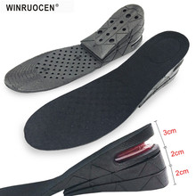 WINRUOCEN Adjustable 3-7cm 3 Layer Up Air Cushion Heel Insert Increase Height Lift Unisex Shoe Insole height increase Pad