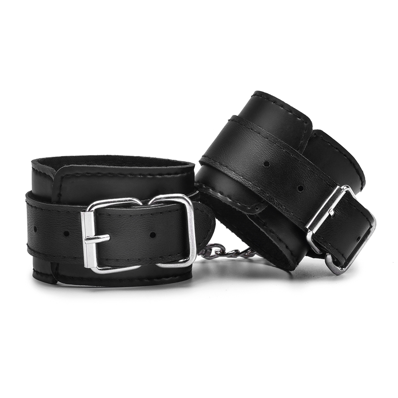 Black Adjustable Leather Handcuffs For Sex Toys For Woman Couples Esposas Bdsm Bondage Handcuffs Exotic Accessories Adult Games    -
