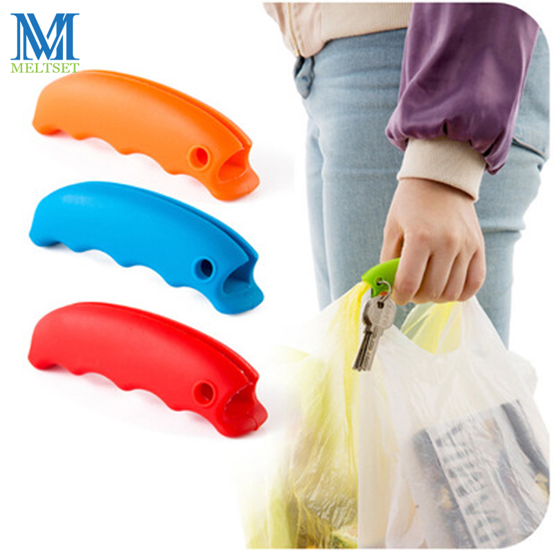 1 PC Portable Shopping Bag Holder Soft Silicone Hooks For Hanging Handbag Basket Travel Vegetable Fruit Shopping Bag Hanger