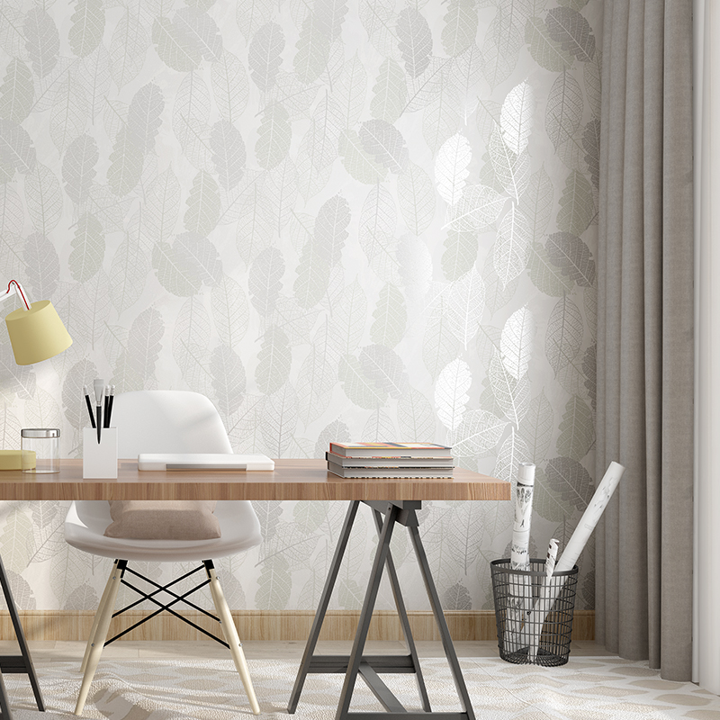 Beibehang Nordic Foliage Branches Wall Paper Roll White TV Background Wallpaper For Living Room Embossed Home Decoration Bedroom