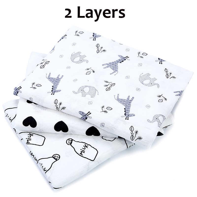 [Simfamily] 1Pc100% хлопок Олень Кролик печати пеленать муслиновые одеяла для новорожденных постельные принадлежности банное полотенце для новорожденного марлевая пеленка одеяло