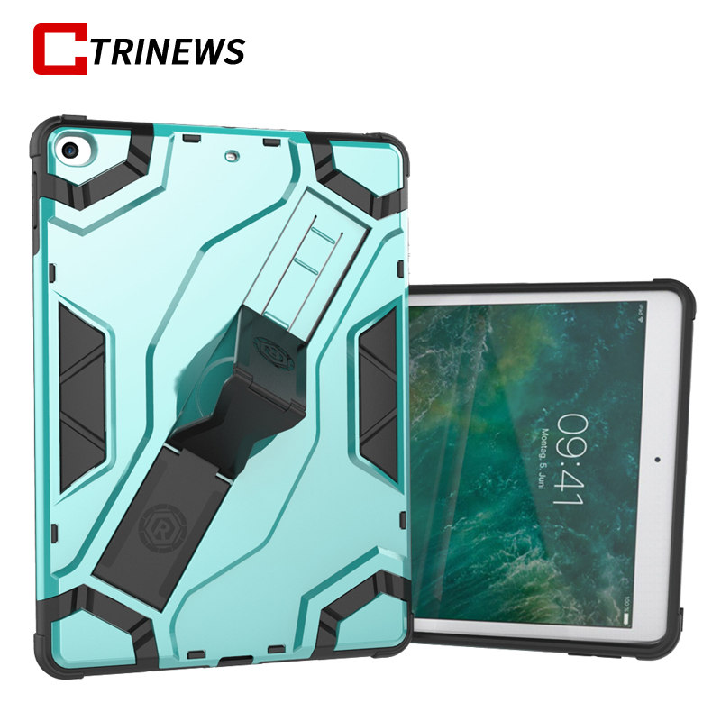 Luxury TPU Silicone Tablet Case For New iPad 2017 9.7 inch Hybrid Armor PC Back Cover Kickstand Case For iPad A1822 A1823 Cases