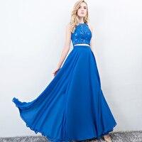 Robe De Soiree Lace Beading Sexy Backless Long Evening Dresses Long 2017 Bride Banquet Elegant Floor