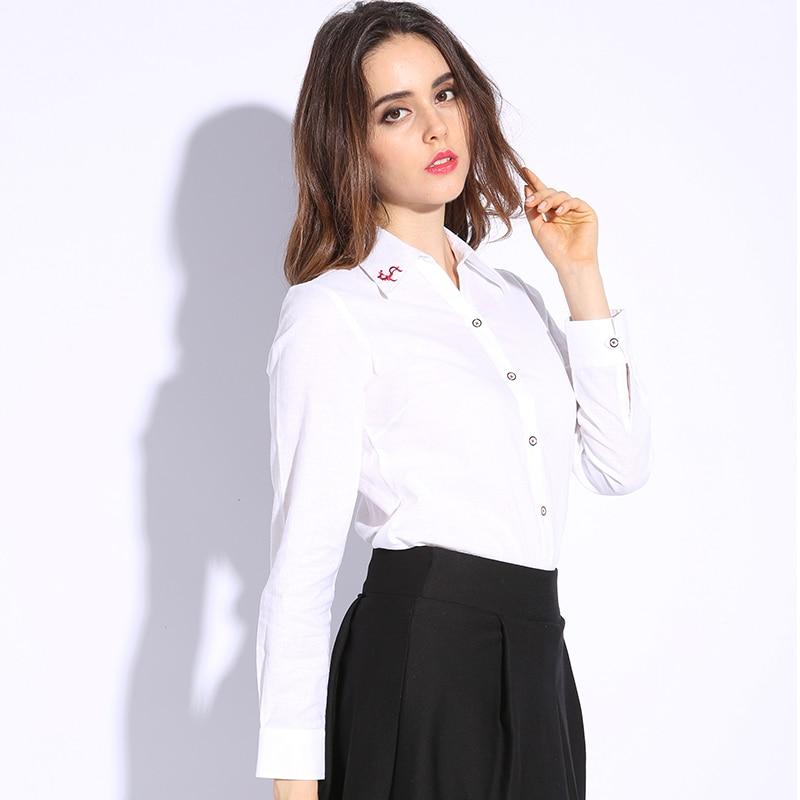 3xl Ladies Office Shirts Elegant White Shirt Women