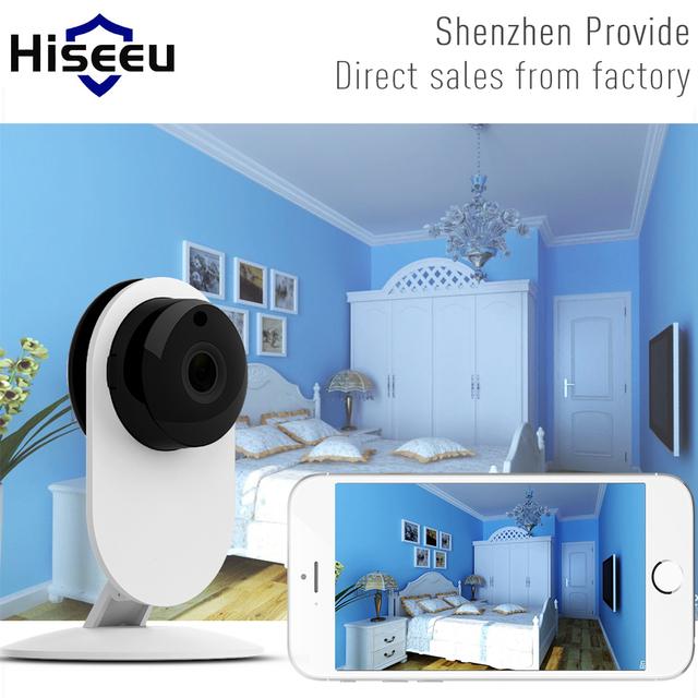Mini Wifi Cámara IP Inalámbrica 720 P HD Cámara Inteligente Bebé monitor de cctv cámara de seguridad inicio remoto móvil de protección cam hiseeu FH7