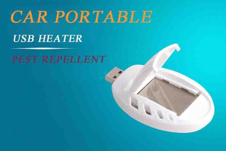 Car Přenosný USB Killer Tasteless Pest odpuzující ohřívač Venkovní Domácí Elektronický Mosquito + 30ksTablets Anti Muggen hmyzu