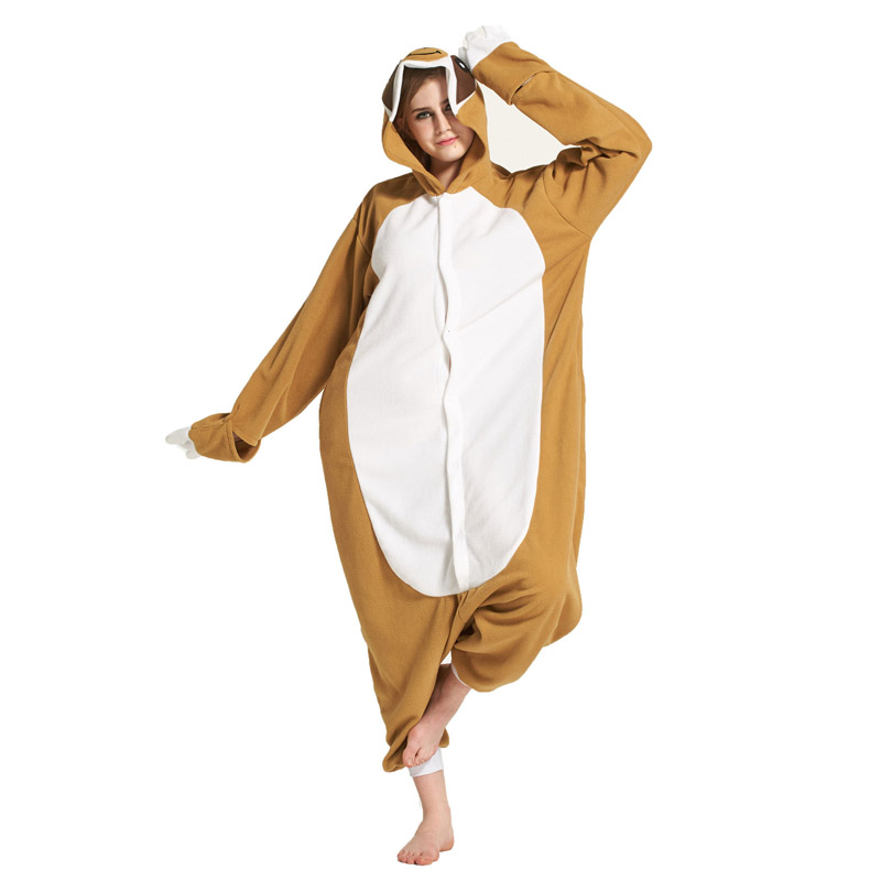 Loose Cartoon Character Sloth Onesies Adult Pajamas Polar Fleece Kigurumi For Halloween Onepiece Winter Jumpsuit Pijama Cosplay