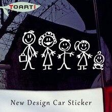 цена на 18*8.5CM Family Figure Car Stickers Funny Creative Vinyl Decals Waterproof Auto Stickers Door Decor Car Styling Accessories