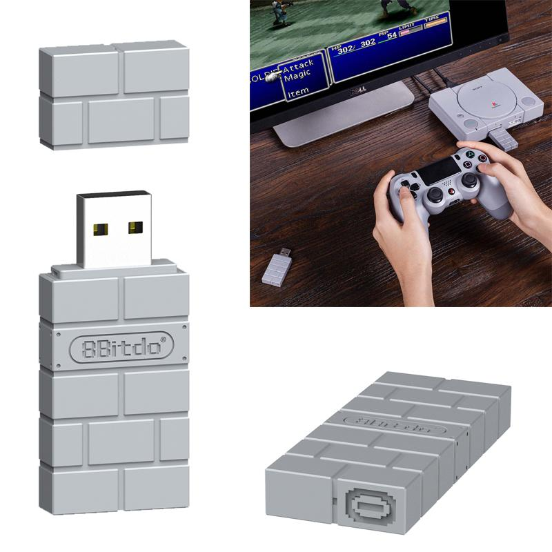 Kuulee Portable 8 Bitdo USB Wireless Bluetooth Adapter Gamepad Receiver