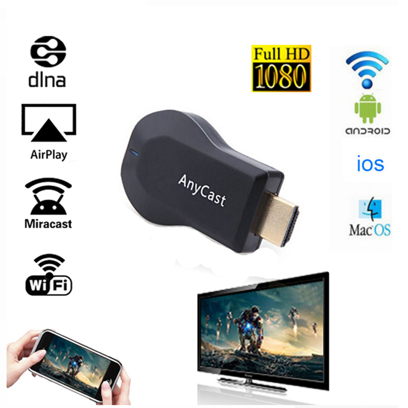 1080 P Full HD Wifi Affichage TV Bâton AnyCast DLNA Sans Fil Airplay Dongle Récepteur TV Box HDMI Miracast pour ios andriod PC 256 MB