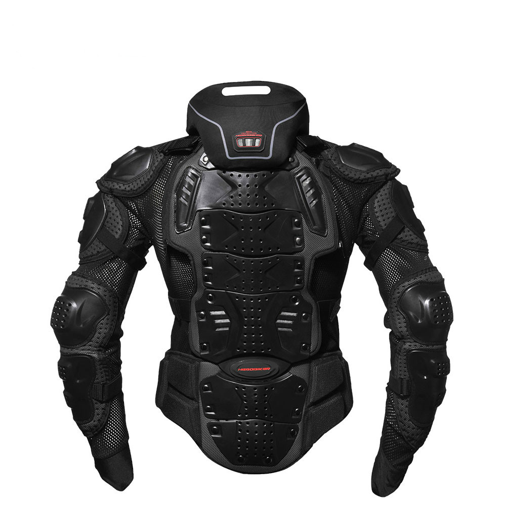 Motorcycle Armor Off-Road Racing Body Neck Protector Jacket Motocross Motorbike Jacket Motorcycle Jackets + Neck Protector herobiker motorcycle jackets men motorcycle armor protection body protective gear motocross motorbike jacket with neck protector