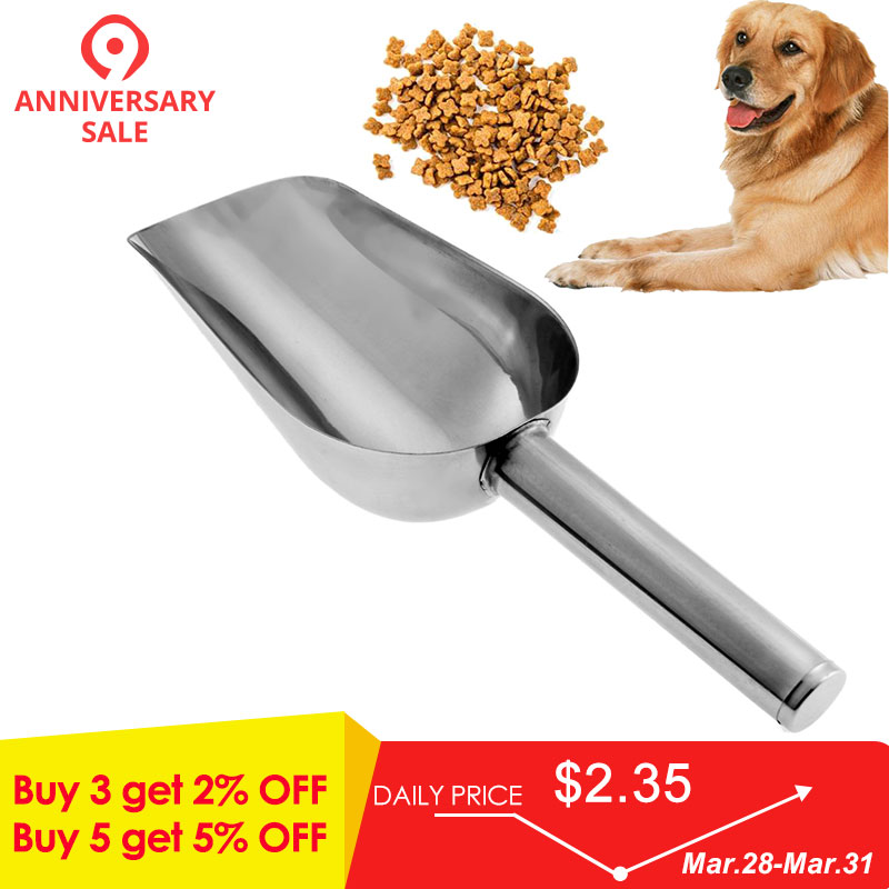 Pet Puppy Useful Dry Food Spoon Hand Shovel Pets Feed Measuring Plastic Scoop For Dog Cat Bird Aesthetic Appearance Home & Garden