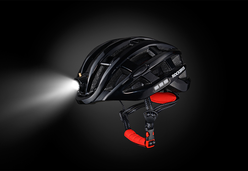 ROCKBROS Cycling Helmet with integrated front and side safety lights 20