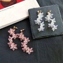 hot deal buy fashion trendy earrings flowers stud earrings for women vintage creative temperament contracted woman stud earrings fine jewelry