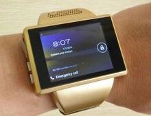 Oro AN1 elegante reloj teléfono celular Android 4.1 Dual Core 2.0 pulgadas de pantalla táctil reloj teléfono móvil 2.0 MP WiFi FM GPS