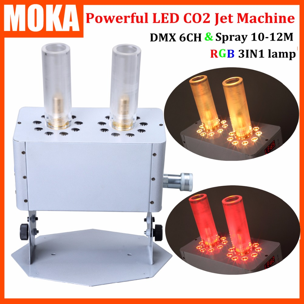 New 18pcs*3W powerful Led Co2 Cryo Jets DMX Control Led CO2 Jet Machine 90V-240V club cannon dj Equipment Spray 12m mystery jets mystery jets curve of the earth 2 lp