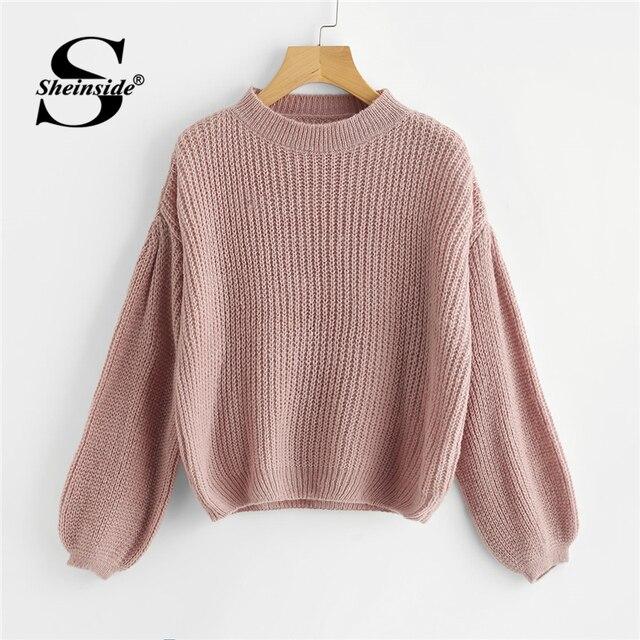 1e0062d711c7 Sheinside Sequin Decoration Contrast Top Sweater Round Neck ...