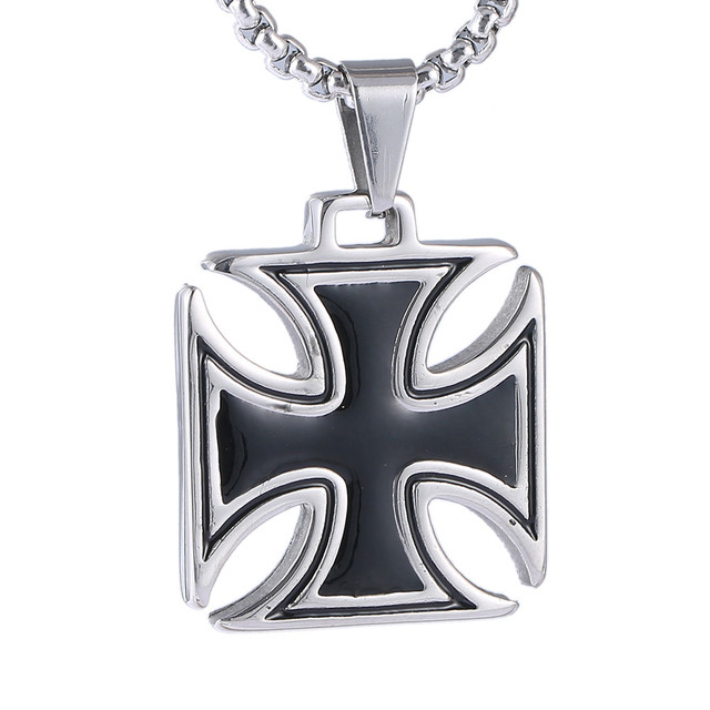 lis silver sterling de pendant imperial necklace listing gold crown il fleur maltese cross