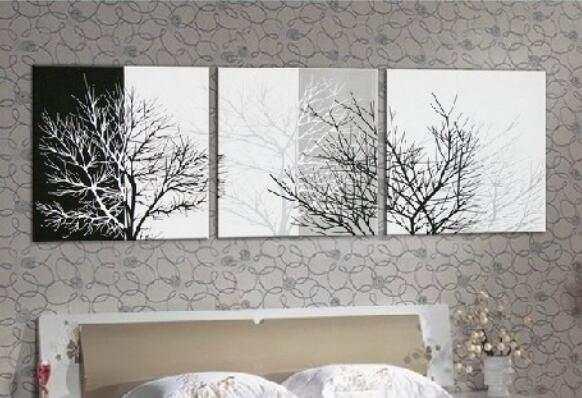 Noir Blanc Argent Couleur Mur Art Photo à La Main Abstraite