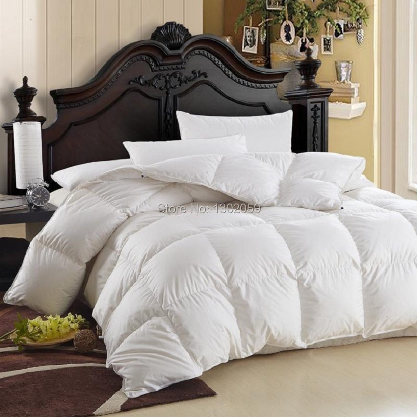 Factory Sale Winter Goose Down Blanket Comforter Doona Quilt King