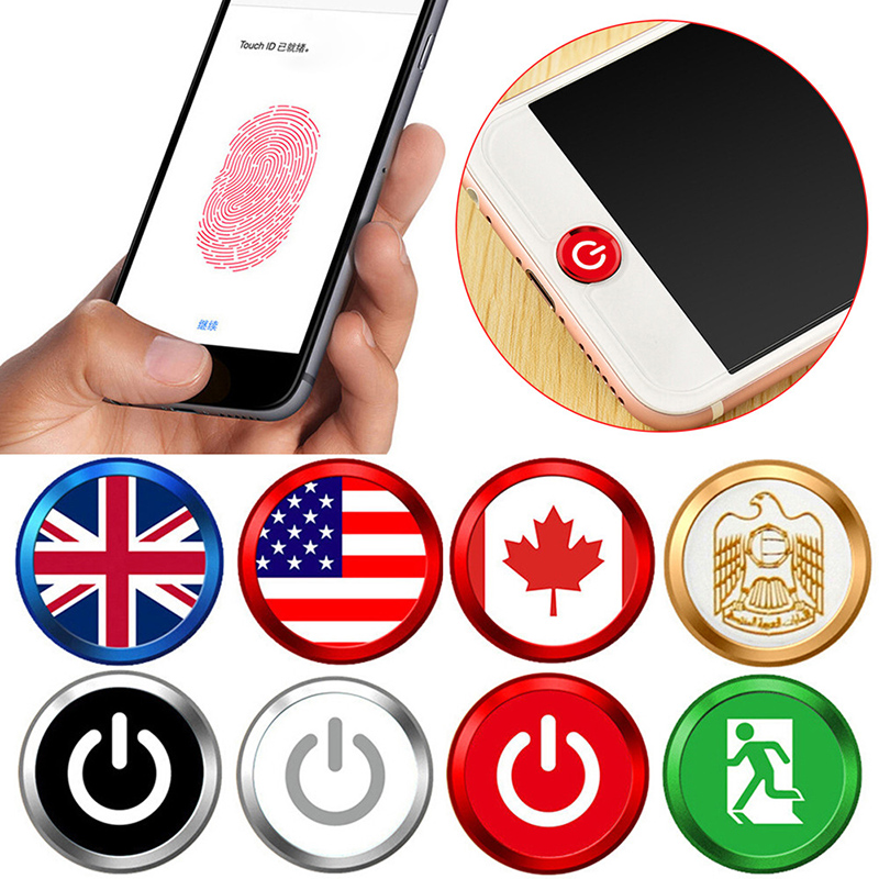 Universal Home Button Sticker For Iphone 8 7 X 6 6s Plus 5s Se 4s 4 Fingerprint Touch Id Anti Sweat Protector For Ipad Air 2 3 4 Handsome Appearance