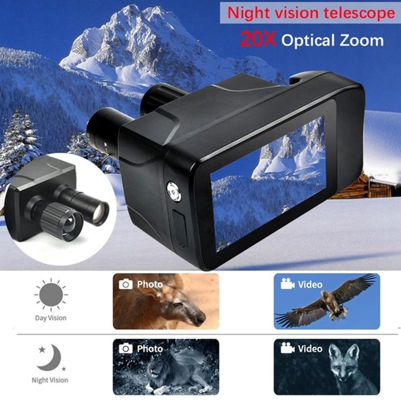 Image 2 - Новейший новый дизайн HD цифровой бинокль ночного видения умный сенсорный экран Лазерная многофункциональная камера для записи ночного мониторинга-in Ночное видение from Спорт и развлечения