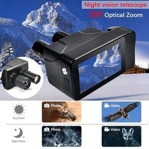 Image 2 - Ultimo Nuovo Disegno HD Binocolo di Visione notturna Digitale Touch Screen Intelligente Laser Multi Funzione Della Macchina Fotografica per Il Monitoraggio Di Notte Record
