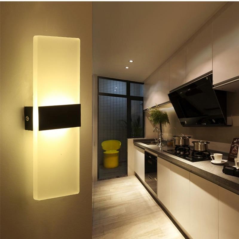 Moderno 6 W LED Applique da parete Illuminazione per Bagno Alta ...