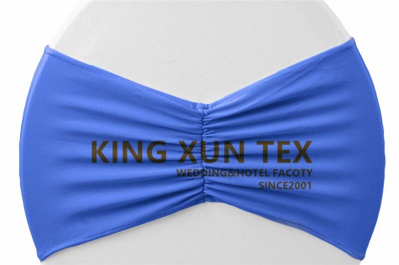 Задний гофрированный лайкровый стул полоса стрейч Подвязка из спандекса для стула подходит для свадьбы украшение для стула - Цвет: royal blue