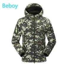Beboy Military Tactical Jackets Men Outdoor Hiking Fleece Jacket Camouflage Hunting Camping Jacket Waterproof Army Sports Coat