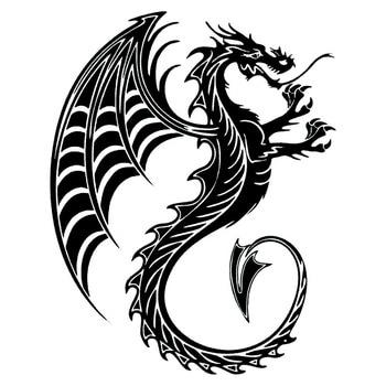 17,5*22 см дракон чудовище крутой автомобиль наклейки на тело волшебное животное Автомобиль Стайлинг наклейка аксессуары черный/серебристый C9-0867
