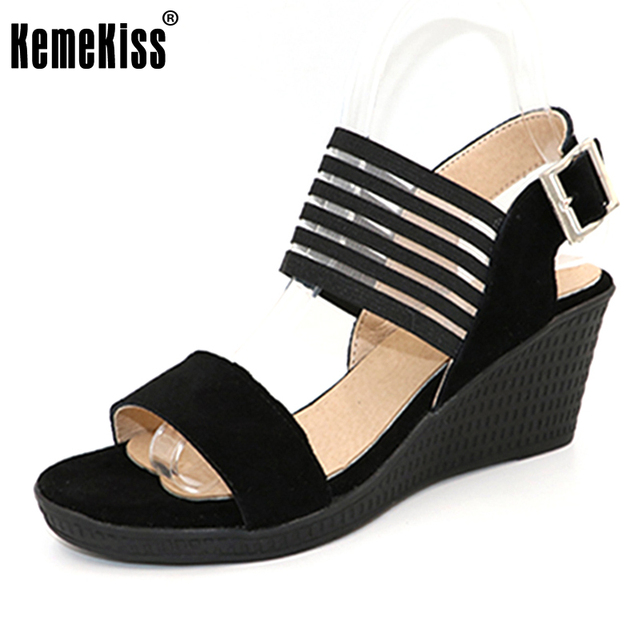 Wedge Bout Sandales Lady À Chaussures Femmes Chaussures KemeKiss 6U50qwnx
