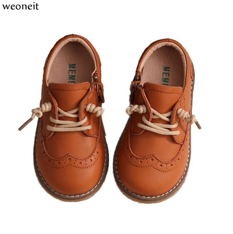 Weoneit Boys Girls Shoes Dress Boys Leather Shoes For