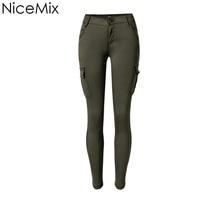 NiceMix 2019 Skinny Jeans Woman Pencil Pants Casual Low Waist Jeans Vintage Slim Pockets Fashion Jeans Femme Calca Feminina