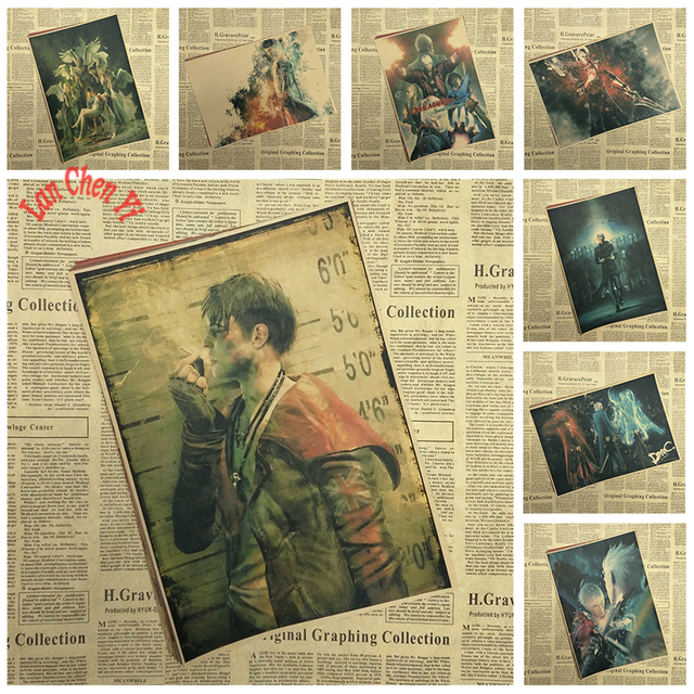 Devil May Cry Game Poster Bar Cafe Living Room Dining room Wall ...