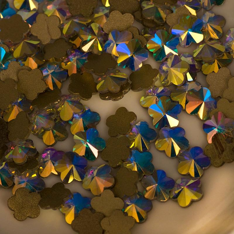 YANRUO 72pcs 6mm # 252560 Crystal AB 3D Plum blossom Nail art - Arte de uñas - foto 2