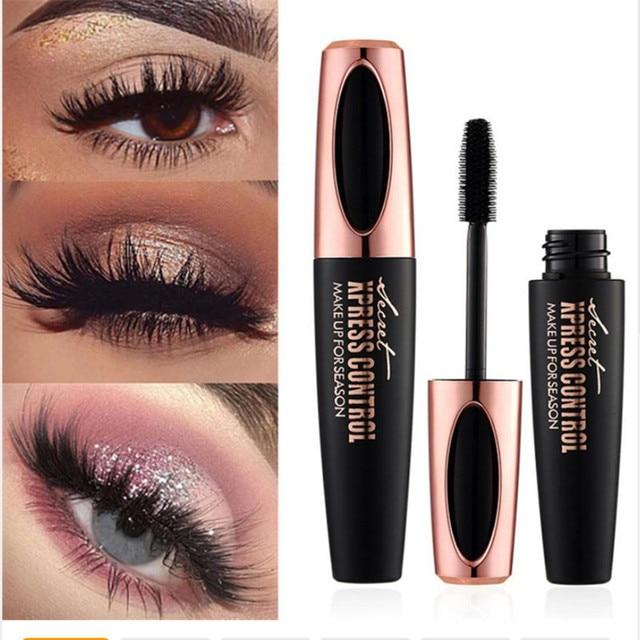 bd639735080 1PC New Long Curling mascara Makeup Eyelash Black Waterproof Fiber Mascara  Eye Lashes makeup 4d silk fiber lash mascara
