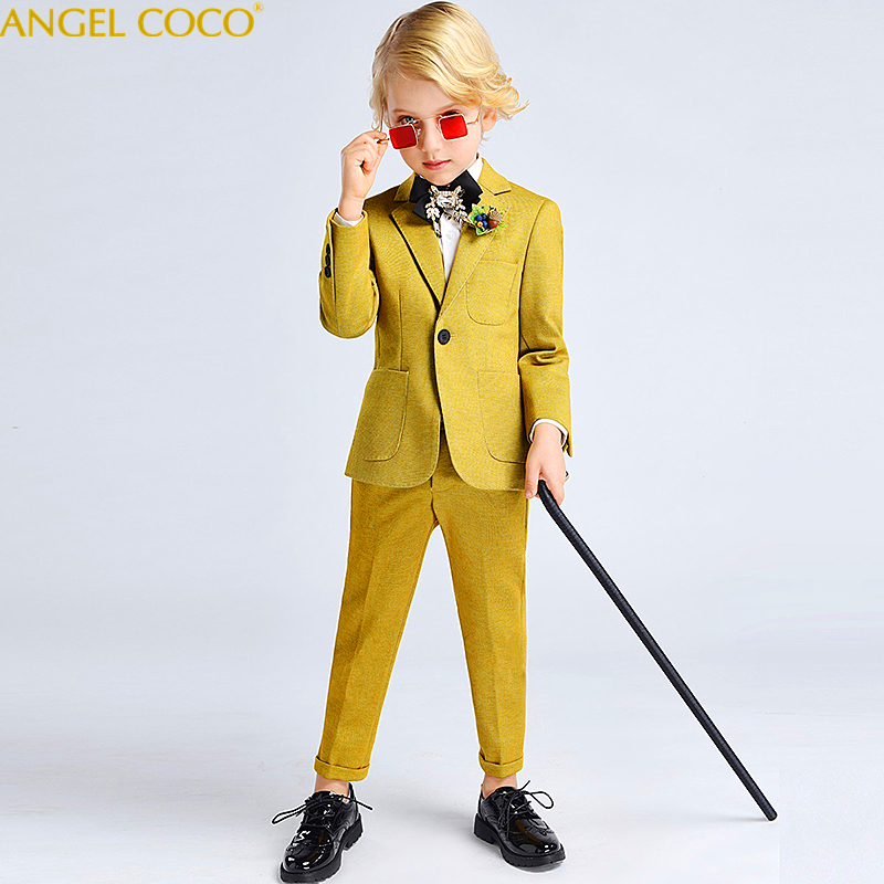 2019 Spring Boy Formal Suits Child Costume Wedding 5 Pieces Kids Blazer Clothes Children Blazer Suit Flower Boys Suit Menino2019 Spring Boy Formal Suits Child Costume Wedding 5 Pieces Kids Blazer Clothes Children Blazer Suit Flower Boys Suit Menino
