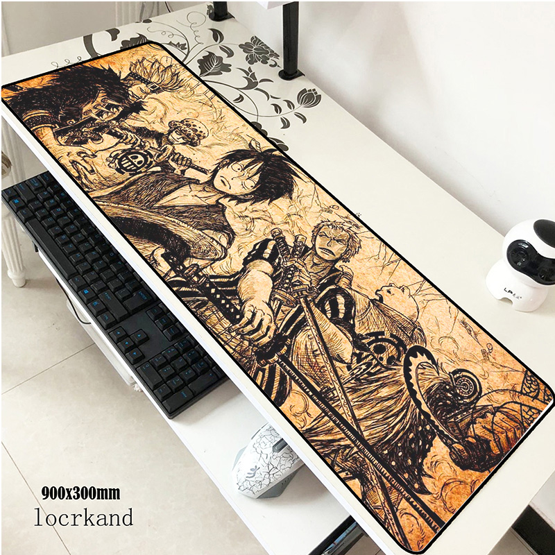 Chopper Padmouse 900x300x2mm Pad To Mouse Big Notbook Computer Mousepad One Piece Gaming Mouse Pads Gamer Keyboard Mouse Mat