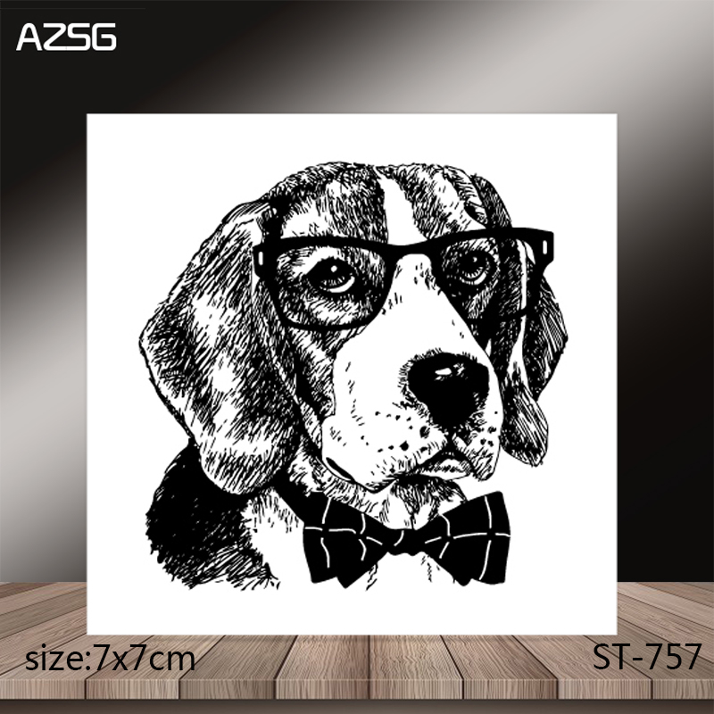 AZSG Puppy Clear Stamps Stamp For Scrapooking Card Making Silicone Stamps Decoration Crafts in Stamps from Home Garden