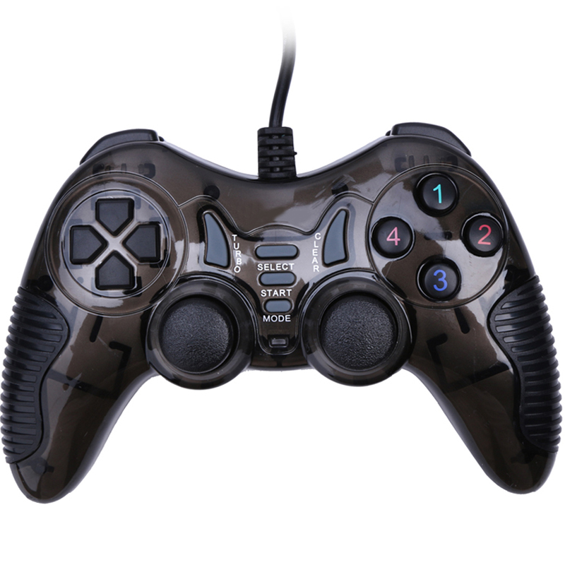 VODOOL USB Wired Joystick PC Vibration Joypad Spelkontroller Gamepad För PC Dator Laptop USB Wired Game Control Controller